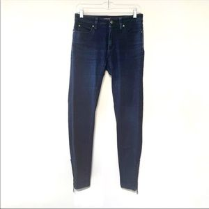Burberry London Culham mid rise skinny jeans with retro side zippers
